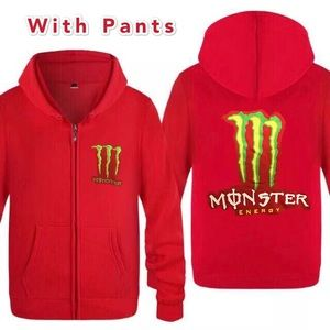 Monster red sports suit set